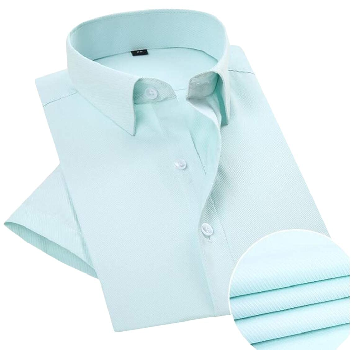 Sweatwater Mens Work Short Sleeve Office Reg-Size Cozy Shirts