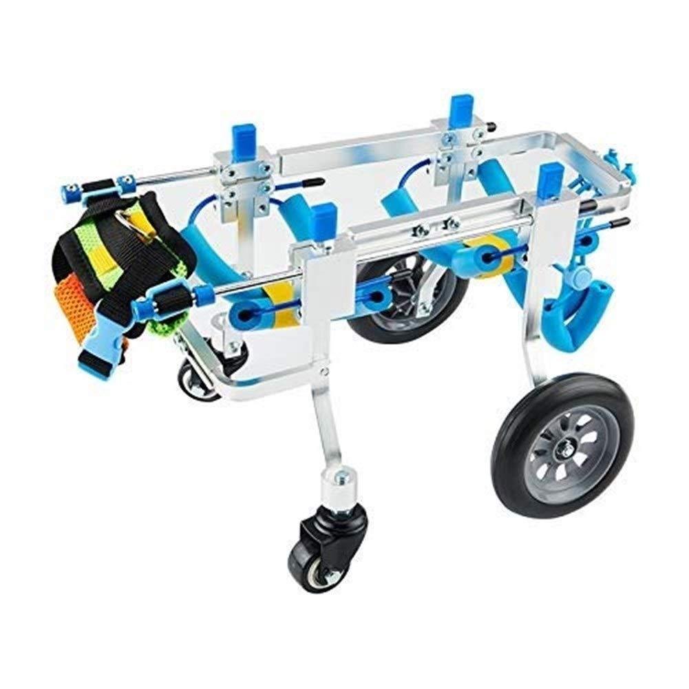 LMCWLY Dog Wheelchair, Adjustable Dog Wheelchair 4 Wheel Pet Wheelchair, Hind Limb Pet Scooter Disabled Dog Hind Leg Auxiliary Bracket Pet Car Seat, Disabled Hind Legs Cat Dog Walk (Size : XS) by LMCWLY