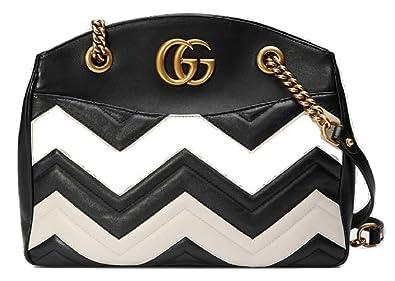6b2f3ad6af52 New Gucci Black & White Marmont Matelassé Tote: Amazon.co.uk: Shoes ...
