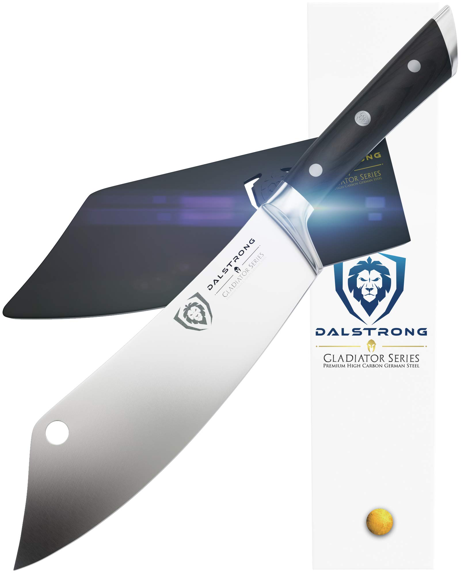 DALSTRONG - 8'' Chef's Knife -''The Crixus'' - Gladiator Series - Chef & Cleaver Hybrid - Meat Knife w/Sheath