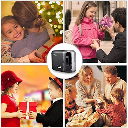Electric Pencil Sharpener, Auto-Stop Feature and Best Heavy Duty Helical Blade Sharpeners for Office School Classroom Kids Artists, AC adapter or Battery Operated for No.2 and Colored Pencils. (Black) by RUIYA (Image #6)