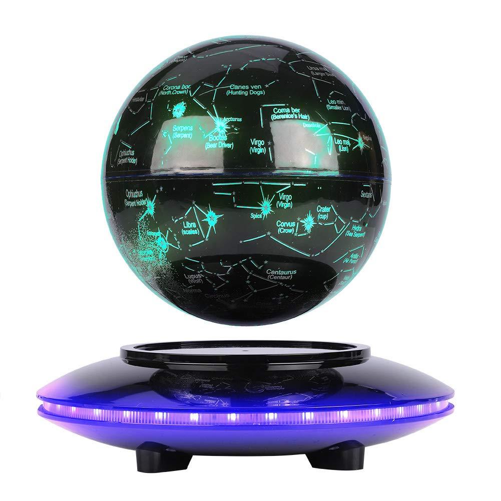 '5Globe lévitation magnétique flottante–Globo et constellation–pour le cadeau de décoration de bureau Noir yuyte