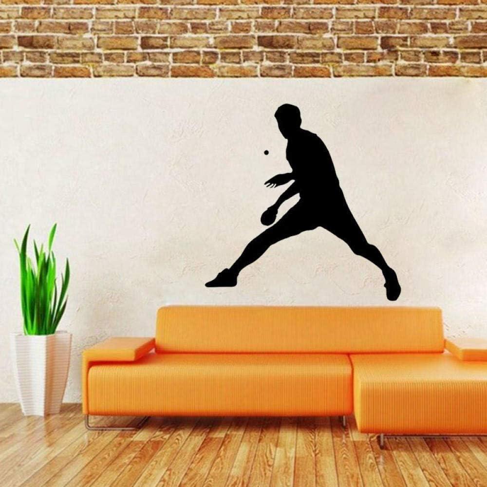 Etiqueta de la pared Interesante mesa de ping pong pegatina de PVC sala de estar el dormitorio 55 cm * 55,3 cm Calcomanías de pared