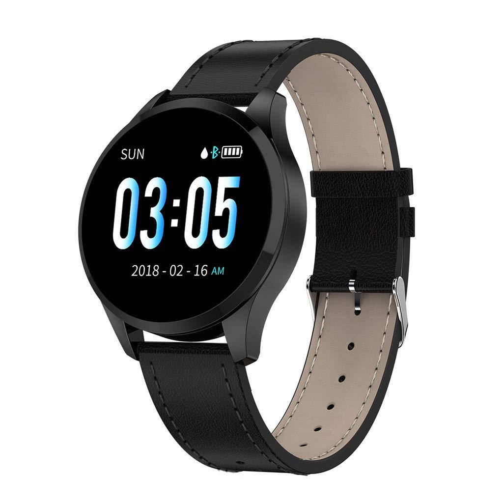 YNAA Women Q9 Smartwatch 1.22inch Color Screen Blood Pressure Heart Rate Monitor Smart Watch Fitness Tracker (A)
