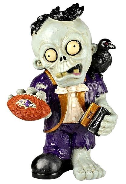 Amazon.com : NFL Baltimore Ravens Resin Thematic Zombie Figurine ...