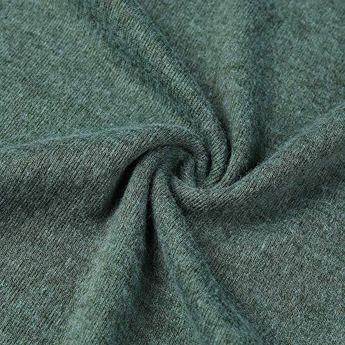 Camicette Verde Irregolare Leey Maniche Tunica Felpa Jersey Moda Asimmetrico Donne Camicia Inverno E Alto Top Lunghe Cardigan Maglia Maglione Collo Donna qARq8w6