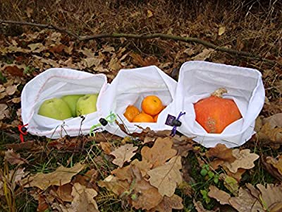 One Day Sale!!! Petersaccessories Produce Mesh Bag- 5 Pack- Premium Quality- Washable & Reusable- Alternative Green Solution- Storage For Fruit, Snacks, Cosmetics & Mini-Traveling Packages
