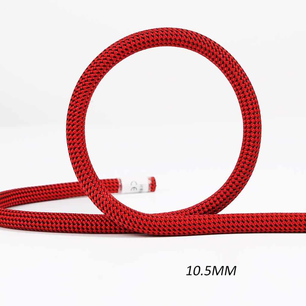QARYYQ Ligne de Vie 10 1.55mm de Corde Statique de Corde de Chute de Vitesse de Corde Statique s'élevante Cordes (Taille   10.5MM 10M) 10.5MM 10M