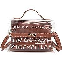 Vawal Femmes 2-en-1 Transparent Sac À Bandoulière Mignon Messenger Imperméable Épaule Sac Portefeuilles Bourse Sacs À Main