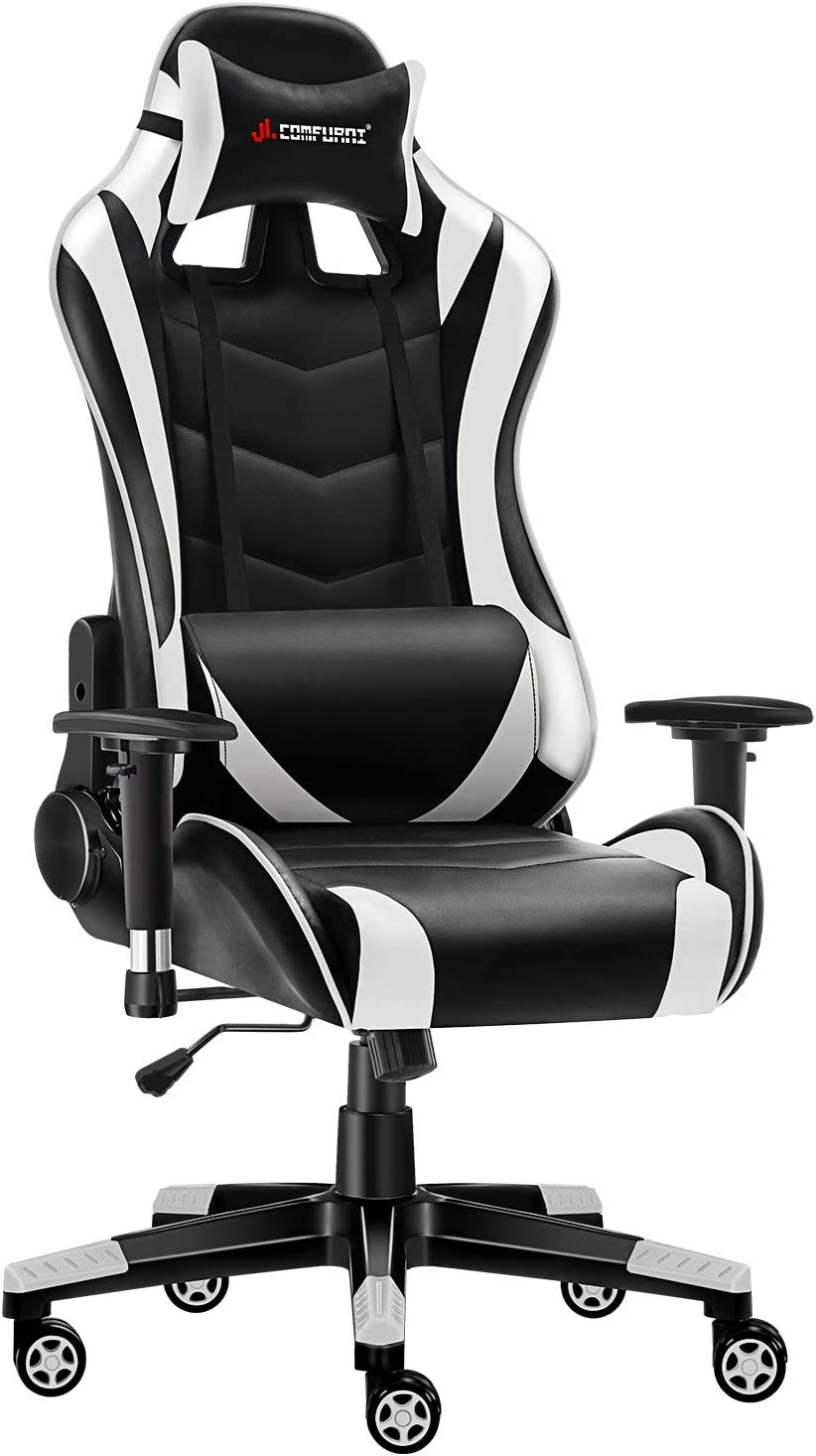 JL Comfurni Gaming Chair Chesterfield Ergonomic Swivel Office Chair