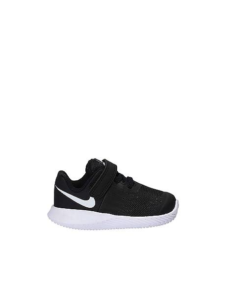 Coureur Nike Étoiles (tdv), Zapatillas Être À La Maison Pour Bébé Unisexe, Noir (noir / Blanc / V 001), 19,5 I