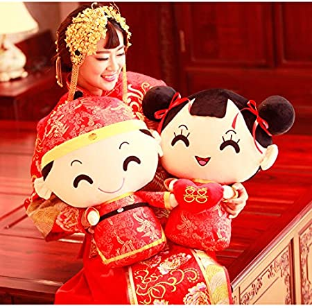 Amazon.com: Kenmont estilo chino disfraz Pareja almohada ...