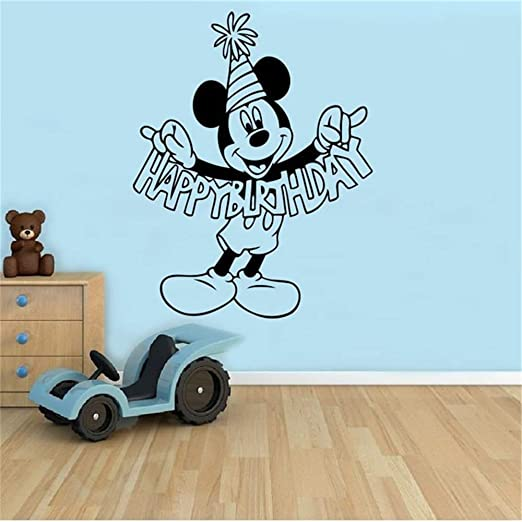 Mickey Minnie Mouse Wall Art Decal Sticker Cumpleaños ...