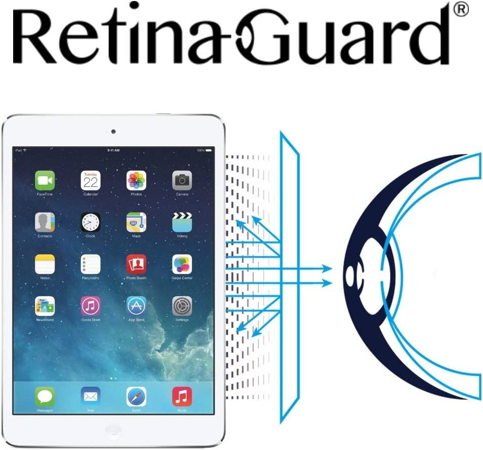 RetinaGuard 2018 iPad Anti UV, Anti Blue Light Screen Protector Compatible With iPad Air 2, iPad Pro 9.7 Inch, 2017 iPad, SGS and Intertek Tested, Blocks Excessive Harmful Blue Light, Reduce Eye Fatigue and Eye Strain