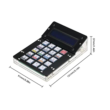 Kit de contador de calculadora KKmoon bricolaje con caja de acrílico Pantalla LCD Contador de calculadora electrónica multiusos Contador electrónico: ...
