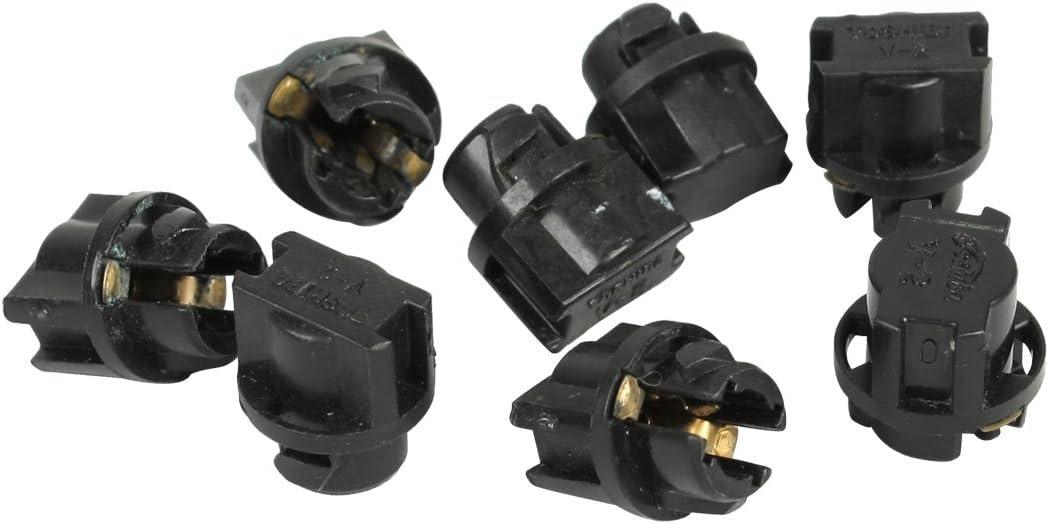 Sourcingmap T5 Bulbo Conector Toma Portal/ámpara de Salpicadero Panel Socket Base