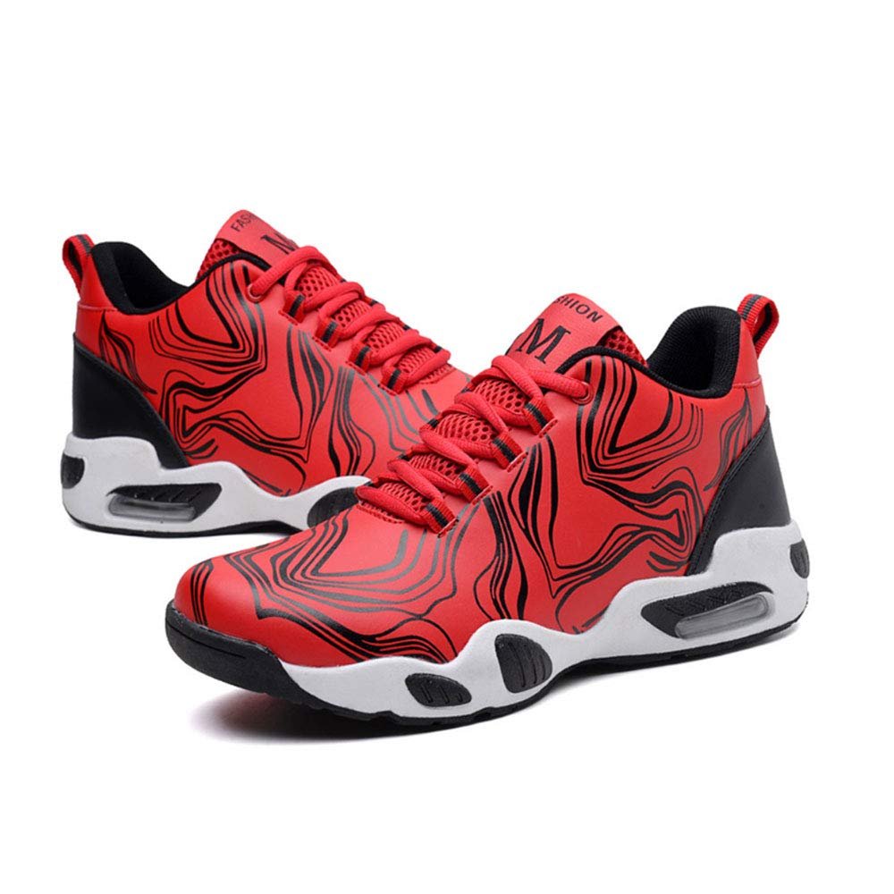 YSZDM Basketballschuhe, Basketballschuhe, Basketballschuhe, Men es Turnschuhe Wear-Resistant Non-Slip High-Top Basketball-Trainer Kushioning Breathable Outdoor Stiefel,rot,44 583e24