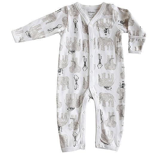 e3490732b7e1 Amazon.com  100% Organic Cotton Jersey Baby Coverall Romper