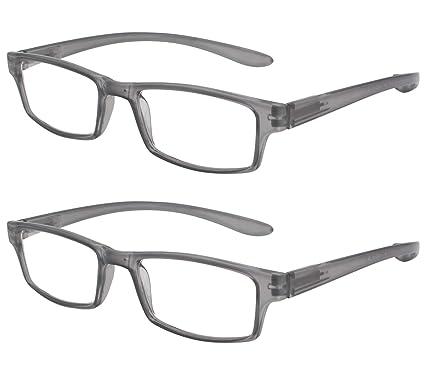 862097bcf5 TBOC Gafas de Lectura Presbicia Vista Cansada - (Pack 2 Unidades) Graduadas  +1.00