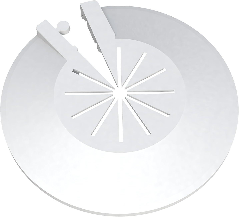Roseta protectora para radiador, 8 unidades, cubierta para tubos de radiador, cubierta para tuberías, manguito de plástico, variable para diámetro de 8-22 mm, montaje rápido
