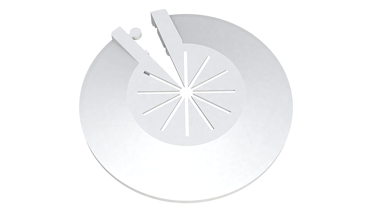 Lot de 8 rosaces de protection pour radiateur de tuyaux pliants de tuyauterie en plastique variables pour diamètre de 8 à 16 mm Montage rapide FamousBath