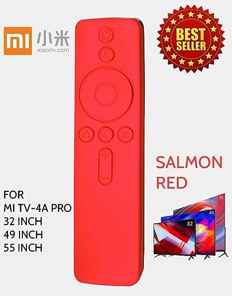 half off e0e66 ecd1d Anti Slip Silicone Protective Case/Cover for Xiaomi Mi TV Remote Controller  (for MI TV-4A PRO(32, 49 & 55 INCH), Salmon RED)