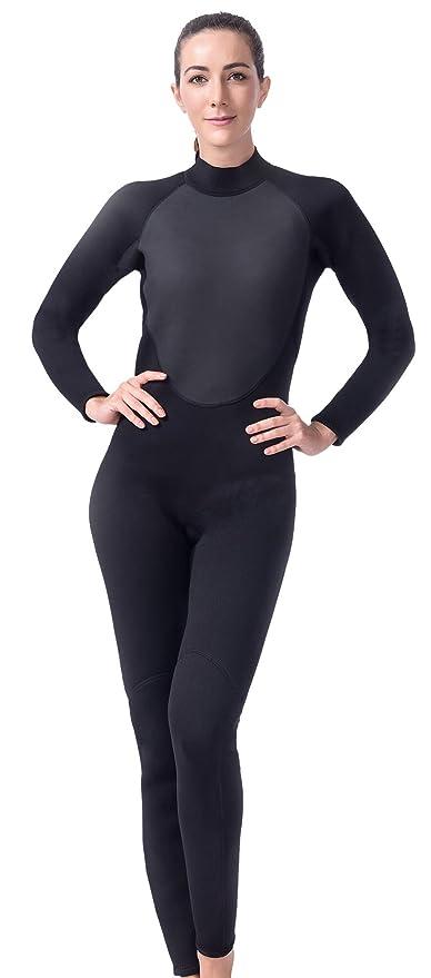 da4dd73f38 Langer Lifurious 3mm Super Stretch Neoprene Women s Full Wetsuit Scuba  Diving Snorkeling Surfing Canoeing Swiming (