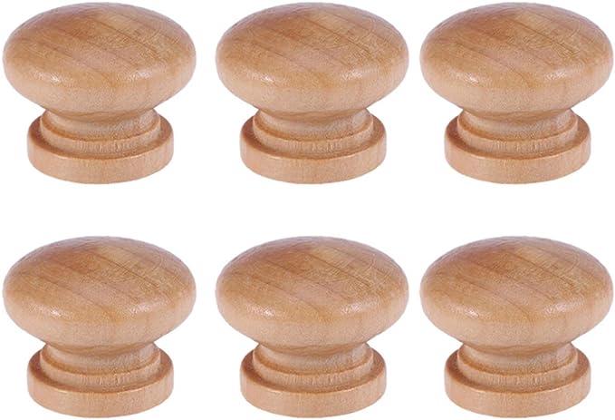 colore legno pomelli per cassetti Set di 4 pomelli in legno per mobili 24 mm per armadietti e cassetti