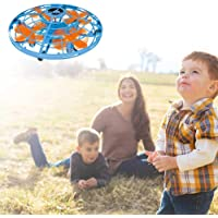 UFO Flying Ball - AOLVO UFO Toy Mini Drone with LED Night Light - USB Rechargeable Magic RC Quadcopter Drone Hand-Controlled Flying Ball Gift for Kids Adults - Auto-Avoid Obstacles