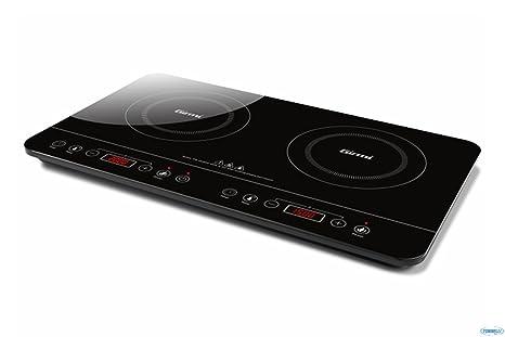Girmi PI5000 Piastra ad Induzione, 3500 W, Vetro, Nero