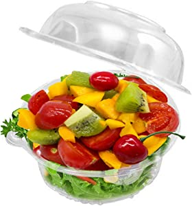 50 Single Individual Cupcake Container, Plastic Clear Dome Cupcake Carrier, Party Favors Cake Boxes & Muffin Cases, Cups for Hamburgers Sandwich Salad Fruit (Pack of 50)