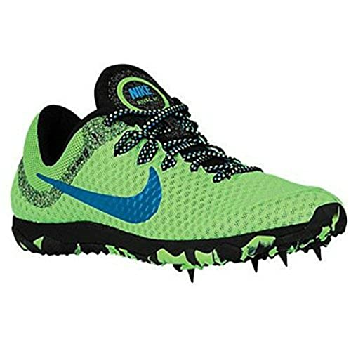 low priced 8b892 3733d Nike Zoom Rival XC Track Spikes Womens Size 7 Volt Green Blue Lagoon Black