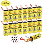 BAIYOU Sticky Fly Paper Strips, Fly Trap Paper Ribbons, Hanging Fly Tape Strips