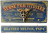 Cheap THOUSAND OAKS BARREL Nurse Practitioner Wood Plank Occupational Sign with Personalized Name Board