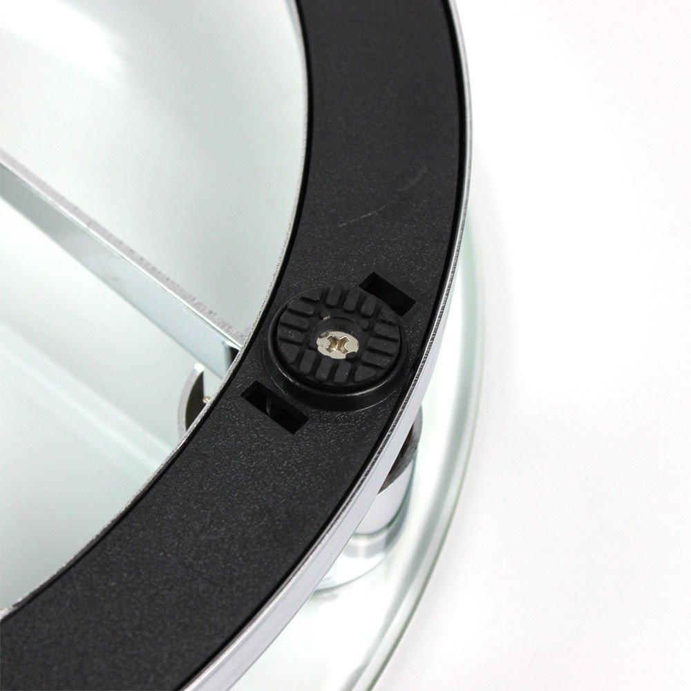 Personenwaage Mechanische K/örperwaage Gewichtswaage 150 kg//330lb Waage Glaswaage Glas Chrom K/örper wiegen