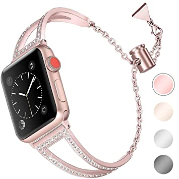 Apple Watch Strap 38 Mm Apple Watch Series 3 Stainless Steel Watch Strap Iwatch Replacement Strap Sport Strap Watch Band Bracelets For Apple Watch Series 4 Amazon De Beauty