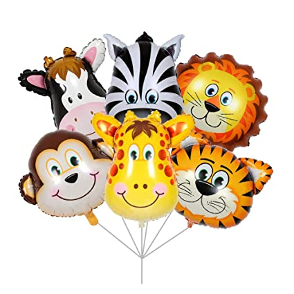 Party Banner Bunting Animal Jungle Lion Tiger Monkey Giraffe Children/'s