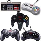 Vilros Retro Gaming 5 USB Classic Controller Set- Nintendo (NES), Super Nintendo (SNES), Sega Genesis, Nintendo 64 (N64…
