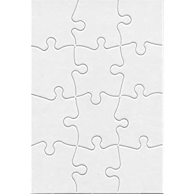 Hygloss Products Blank Jigsaw Puzzle – Compoz-A-Puzzle – 5.5 x 8 Inch - 12 Pieces, 24 Puzzles: Arts, Crafts & Sewing