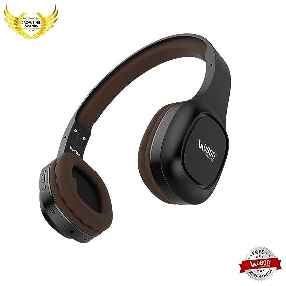 UBON BT 5690 Heavy Bass Wireless/Wired Bluetooth Headphone  Black  Over Ear