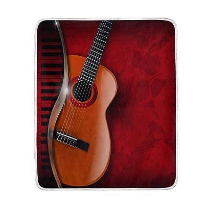 Amazon Com Mofeiyue Music Piano Guitar Throw Blanket Soft