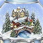 Thomas Kinkade Jingle Bells Christmas Musical Snowglobe by The Bradford Exchange