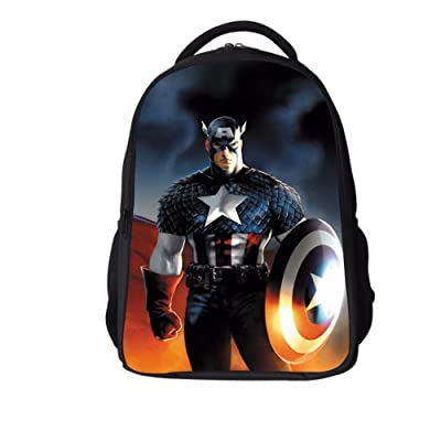 93de7ec75841 new 16-inch Kids Bags Captain America Backpack Avengers Backpack Hulk Iron  Man
