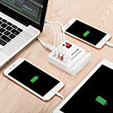 USB Wall Charger, 4-Port Power Adapter Multiport Charging Station with Stand by Aropey for iPhone X/ 8/ 7 / 6s / Plus, iPad Air 2 / mini 3, Galaxy S Series, Note Series, LG, Nexus, HTC and More