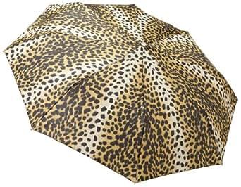 "Totes Ladies Signature Basic Automatic Compact Umbrella (42"" Canopy, Leopard)"