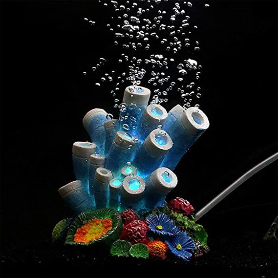 Amazon.com : Aquarium Ornaments, Air Bubble Stone Blue Coral Starfish Oxygen Pump Resin Crafts, Fish Tank Decorations : Pet Supplies