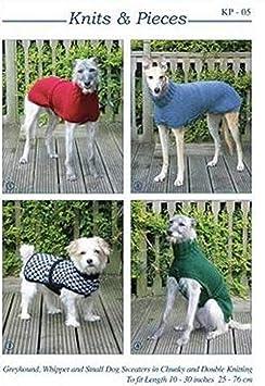 Punto de comida punto de comida de Galgo, figura decorativa de Galgo Inglés y pequeños patrón para tejer abrigo para perros: Sandra Polley: Amazon.es: Hogar