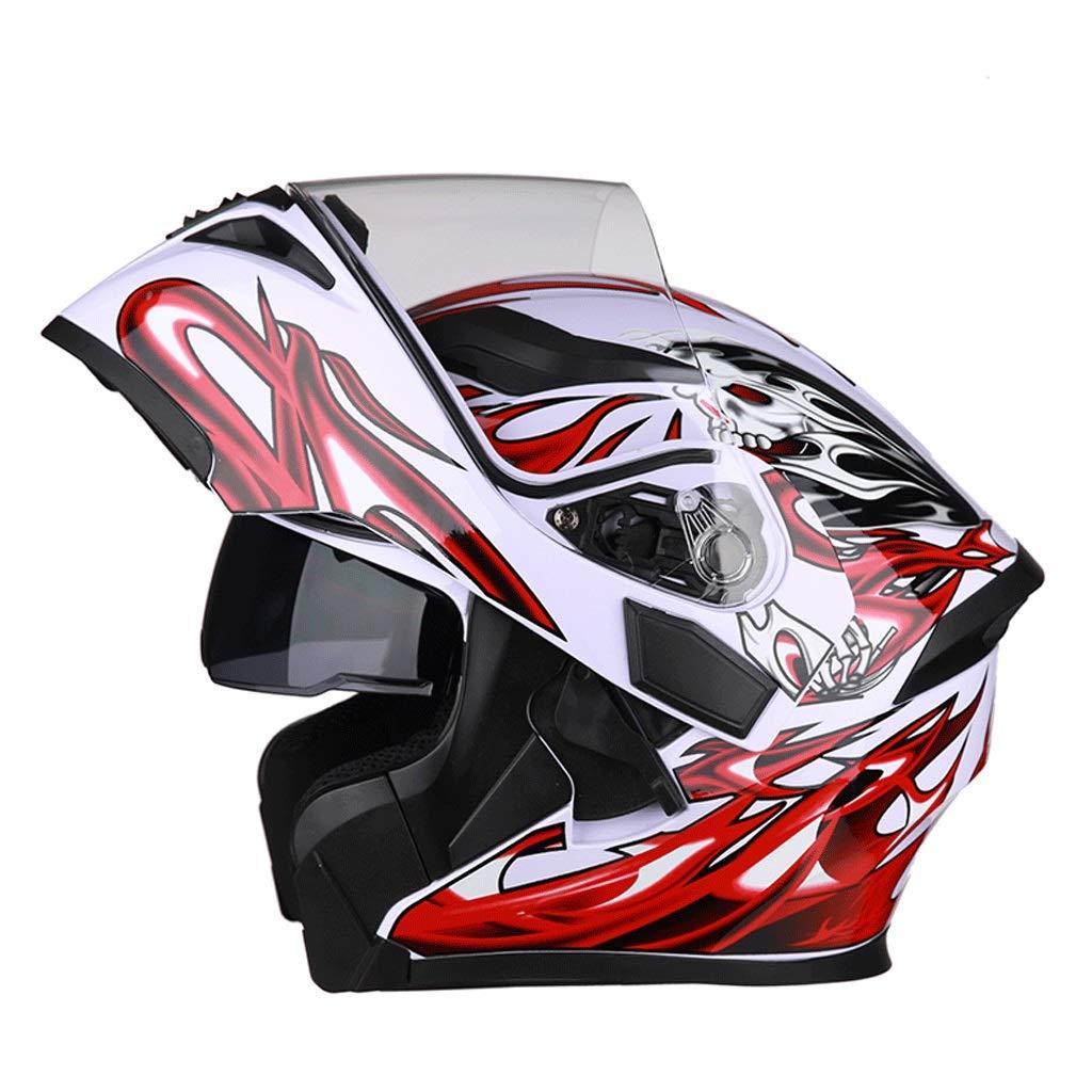 F XX-grand ZXHW Casque Unisexe Professionnel de Moto de Course Casque entièreHommest Couvert Casque d'équitation en Plein air (Couleur   D, Taille   XXL)