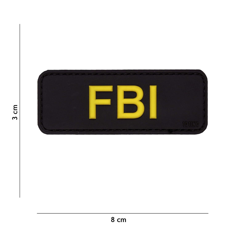 Tactical Attack FBI schwarz #17043 Softair Sniper PVC Patch Logo Klett inkl gegenseite zum aufn/ähen Paintball Airsoft Abzeichen Fun Outdoor Freizeit