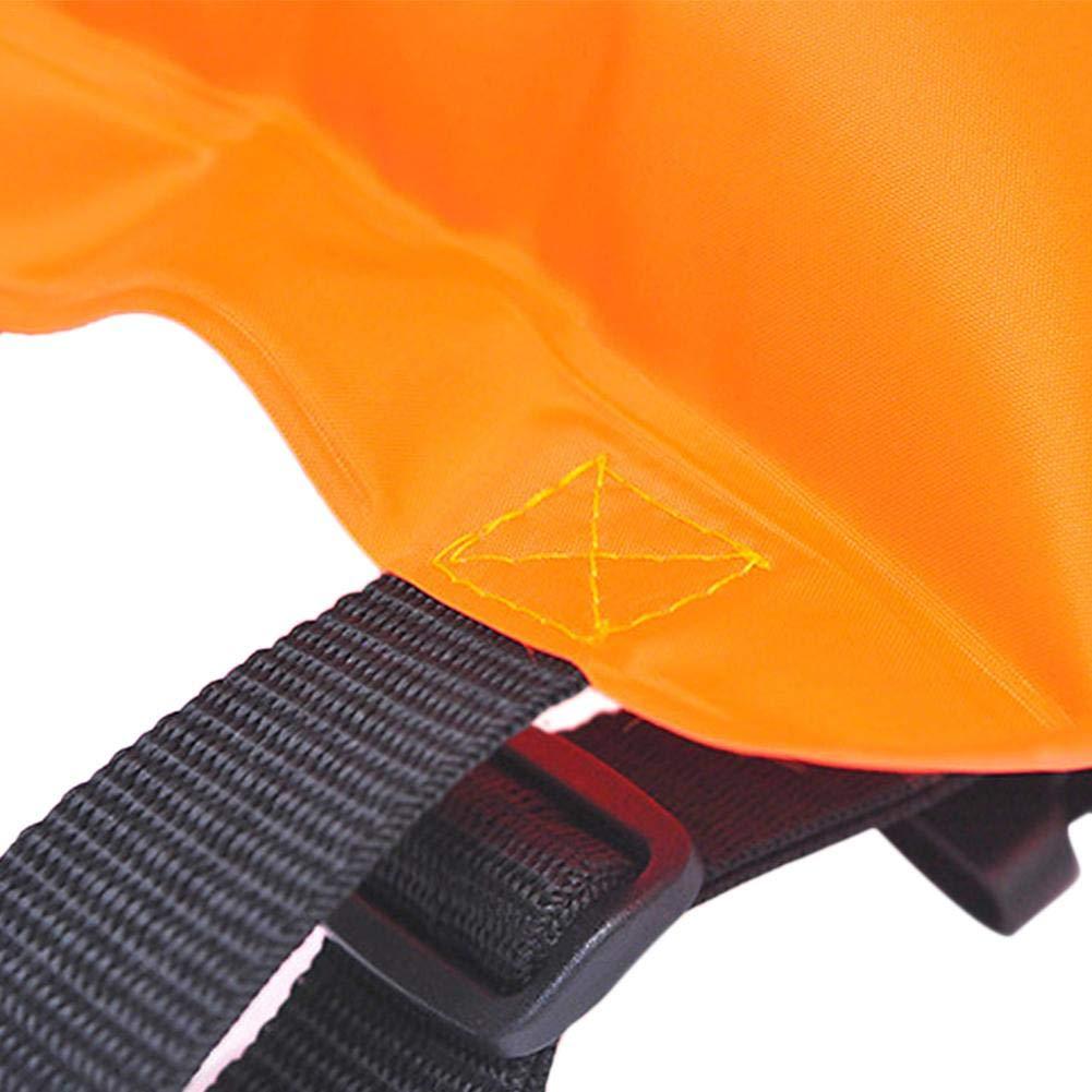 Aufblasbare Schwimmen Schwimmg/ürtel Verbund PVC Sicherheit Schwimmen Lehnend Trainingsg/ürtel F/ür Erwachsene Kinder Orange aheadad Schwimmg/ürtel